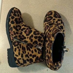 Leopard Booties Size 36/US 6